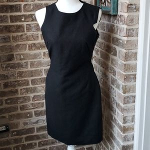 W11 by Walter Baker Black Wool Faux Leather Dress